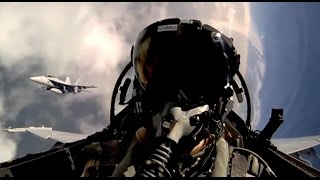 F18 Pilots With GoPro Cameras