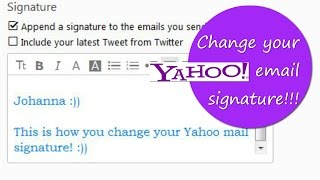 How to change your Yahoo email signature