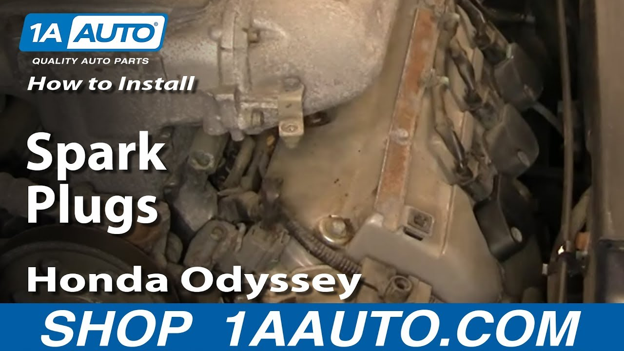 install replace spark plugs honda odyssey   aautocom youtube