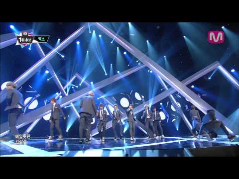 EXO_으르렁 (Growl by EXO@Mcountdown 2013.8.22)