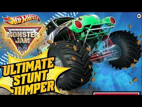 Hot Wheels Monster Jam Ultimate Stunt Jumper Game - Best Kid Games
