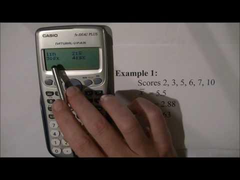 Statistics on the Casio FX-100AU Plus