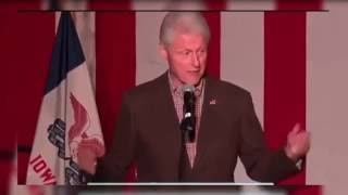 Bill Clinton Interrupted by Several Protestors in Waterloo, Iowa