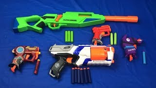 Toy Pistols Box of Toys Nerf Microshots Blasters Toy Weapons