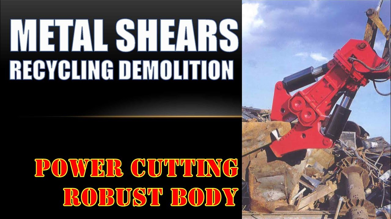 Metal Cutting Shears Aks Series Excavator Attachment
