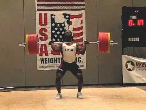 Kendrick Farris 205kg Clean & Jerk American Record Attempt 2010 Arnold Classic Slow Motion Image 1
