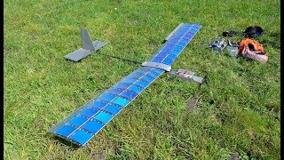 RCTESTFLIGHT - Solar Plane V3 FPV Flight to Mountain Peak