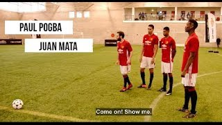 Funny Shoot Out Challenge -  Paul Pogba, Juan Mata, Marcus Rashford & Chris Smalling