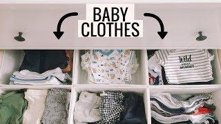 How To Organize Baby Clothes | Nursery Dresser and Closet Tour