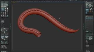 How to modeling dragon body brush using Zbrush,3dsmax