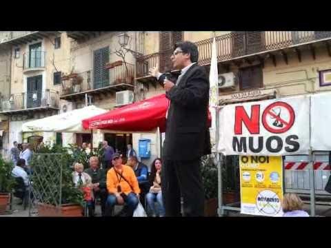 Monreale, il comizio di Fabio Costantini del 22 Maggio 2014 - filodirettomonreale.it
