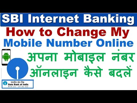 How to Change/Update Mobile Number in SBI Account Online - SBI Internet Banking