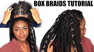 RUBBER BAND METHOD BOX BRAIDS TUTORIAL| Chizi Duru