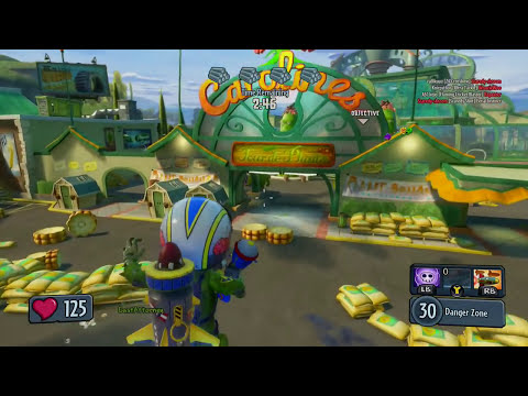 Plants vs Zombies Garden Warfare - Sky Trooper zombie Gameplay Walkthrough (PC/Xbox One/Xbox 360)