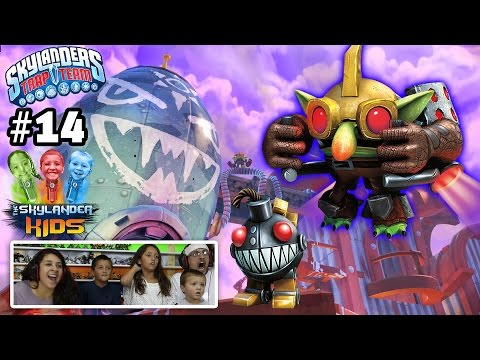 Lets Play Skylanders Trap Team: Chapter 14 - Operation Troll Rocket Steal w/ Threatpack & Grinnade