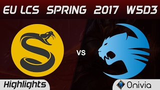 SPY vs ROC Highlights Game 1 EU LCS Spring 2017 W5D3 Splyce vs Roccat