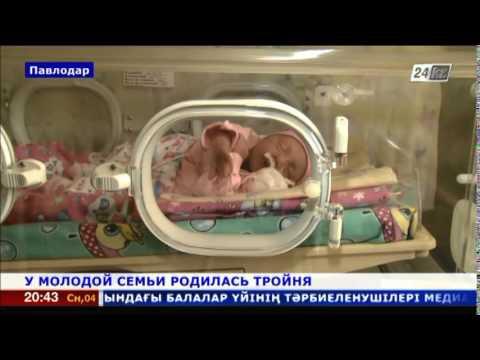 У молодой семьи из Павлодара родилась тройня