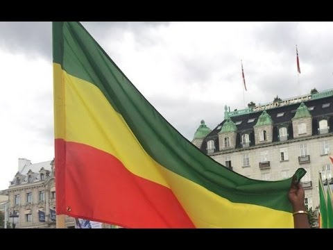 Ethiopians Protests in Frankfurt, Germany video