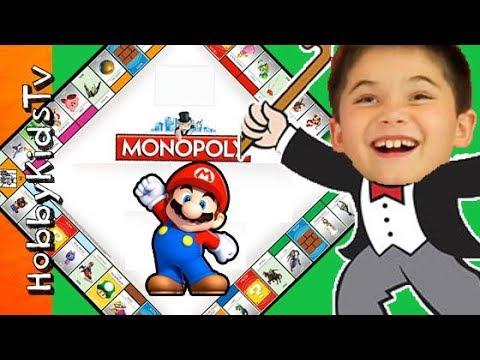 Nintendo Mario MONOPOLY Gameplay with HobbyPig and HobbyGuy