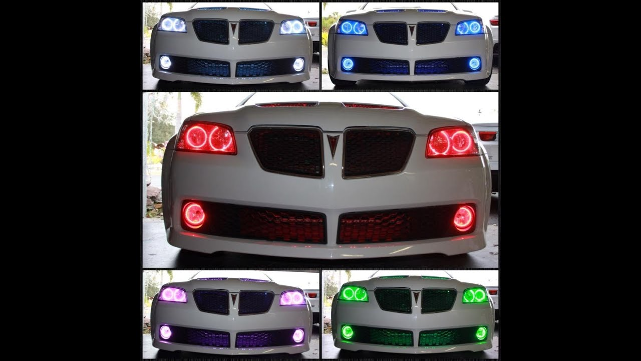 2009 Pontiac G8 Gt With Oracle Colorshift 2 0 Halos Youtube