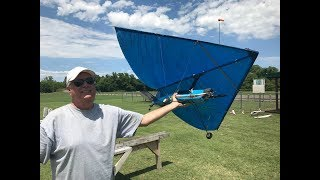 Flying an RC Kite Rogallo wing with an chase Drone FPV Roy Dawson video