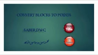 CONVERT BLOCKS TO POINTS