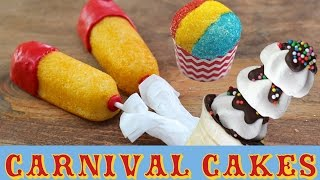 CARNIVAL CAKES Cupcakes, Twinkies & Super Bowl Treats | My Cupcake Addiction | Elise Strachan