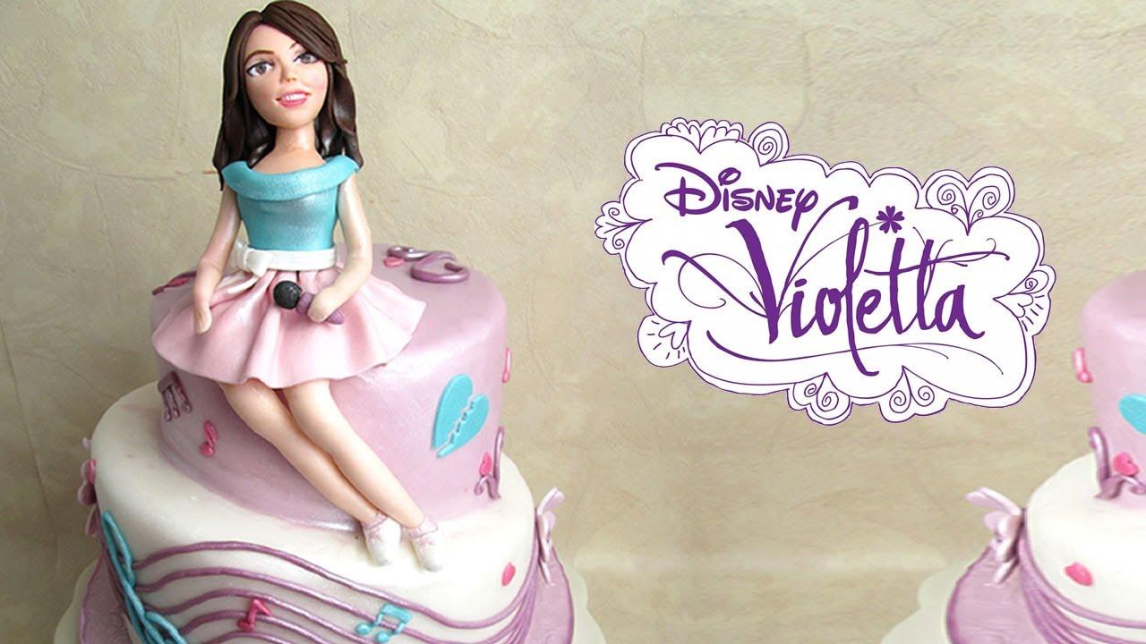Cake Design Di Violetta : Violetta in pasta di zucchero per torta - Fondant Violetta ...