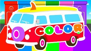Download FUNNY BUS & COLORS for Kids - Cars Learning Educational Video - Superheroes for babies toddlers 3Gp Mp4