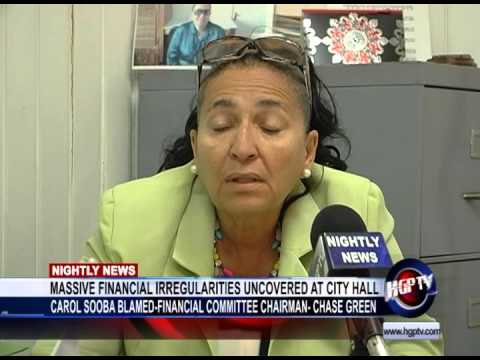 MASSIVE FINANCIAL IRREGULARITIES UNCOVERED AT CITY HALL