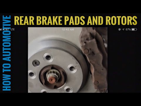 How to replace rear brake pads machine rotors and for Mercedes benz gl450 brake pads