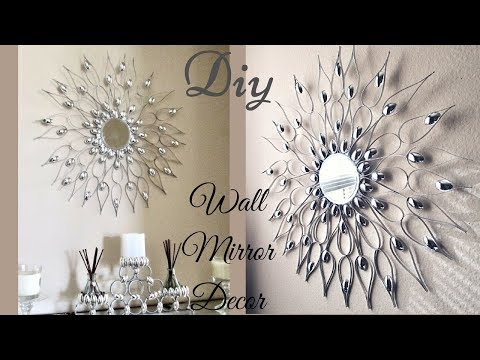 Diy Quick and Easy Glam Wall Mirror Decor  Wall Decorating Idea!