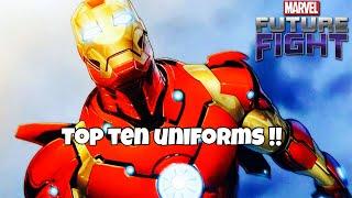 """Top Ten """"Must Buy"""" Uniforms   Marvel Future Fight"""