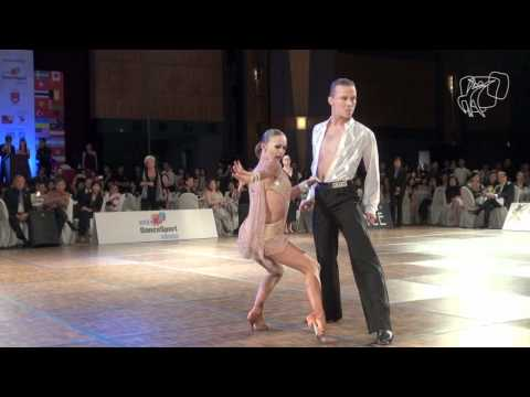 2011 Wdsf World Latin Final: Zaytsev - Kuzminskaya Solo Cha Cha Pov video