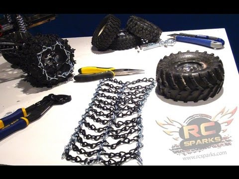 0 RC ADVENTURES   Cheap Tire Chains   Tutorial   How To DIY   Snow, Ice, Mud, Bogging