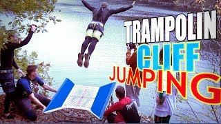 WINTER TRAMPOLIN CLIFF JUMPING [FreibadChaoten 4.0 feat Riede94]