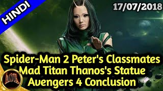 Avengers 4 Conclusion Story , Statue of Thanos in Comic Con, Spider-Man 2 Casting || Changing aor