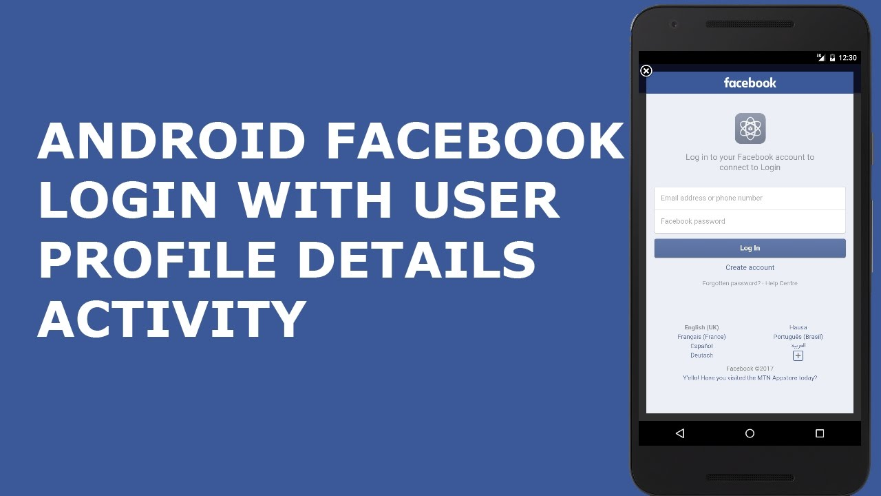 ANDROID FACEBOOK LOGIN WITH USER PROFILE DETAILS ACTIVITY PT1 ...