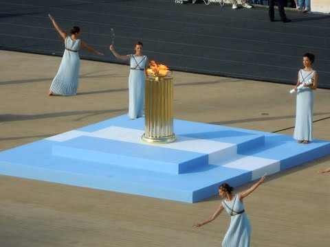 ATHENS, GREECE, Olympic flame at Panathenaic Stadium, OLYMPIC GAMES BRAZIL RIO 2016 - (3)(27.4.2016)