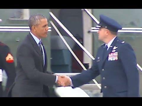President Obama Lands in Saudi Arabia