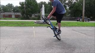 8-10-14 Flatland BMX Riding Session Clip With My Friend Mark Sprung