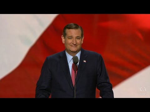 Sen. Ted Cruz (Texas) speaks at the Republican National Convention