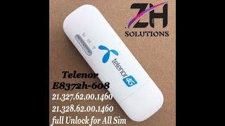 Telenor E8372h-608 21.327 21.328 and 21.329 1460 All Version Unlock