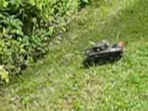 Rc Sherman Tank Heng Long 1:30 In the garden!