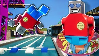 We Committed Insurance Fraud At A Lego Water Park in Brick Rigs Multiplayer!