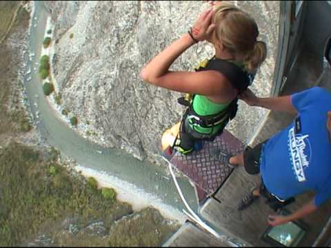 Nevis Bungy Jump - SCARED