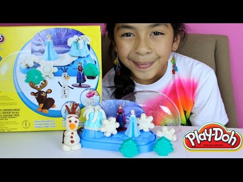 Tuesday Play Doh Frozen Sparkle Snow Dome With Elsa Anna Olaf and Sven