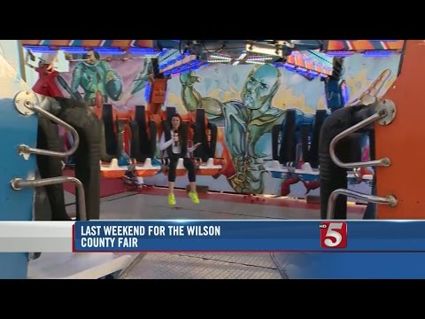 Reporter Deja Knight Goes On Ride At Wilson County Fair