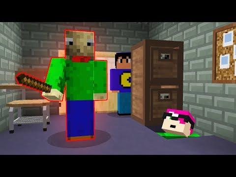 Minecraft: BALDIS ASSUSTA YOUTUBERS! 😱