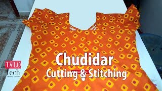 Chudidar cutting and stitching easy method   Churidar tailoring classes